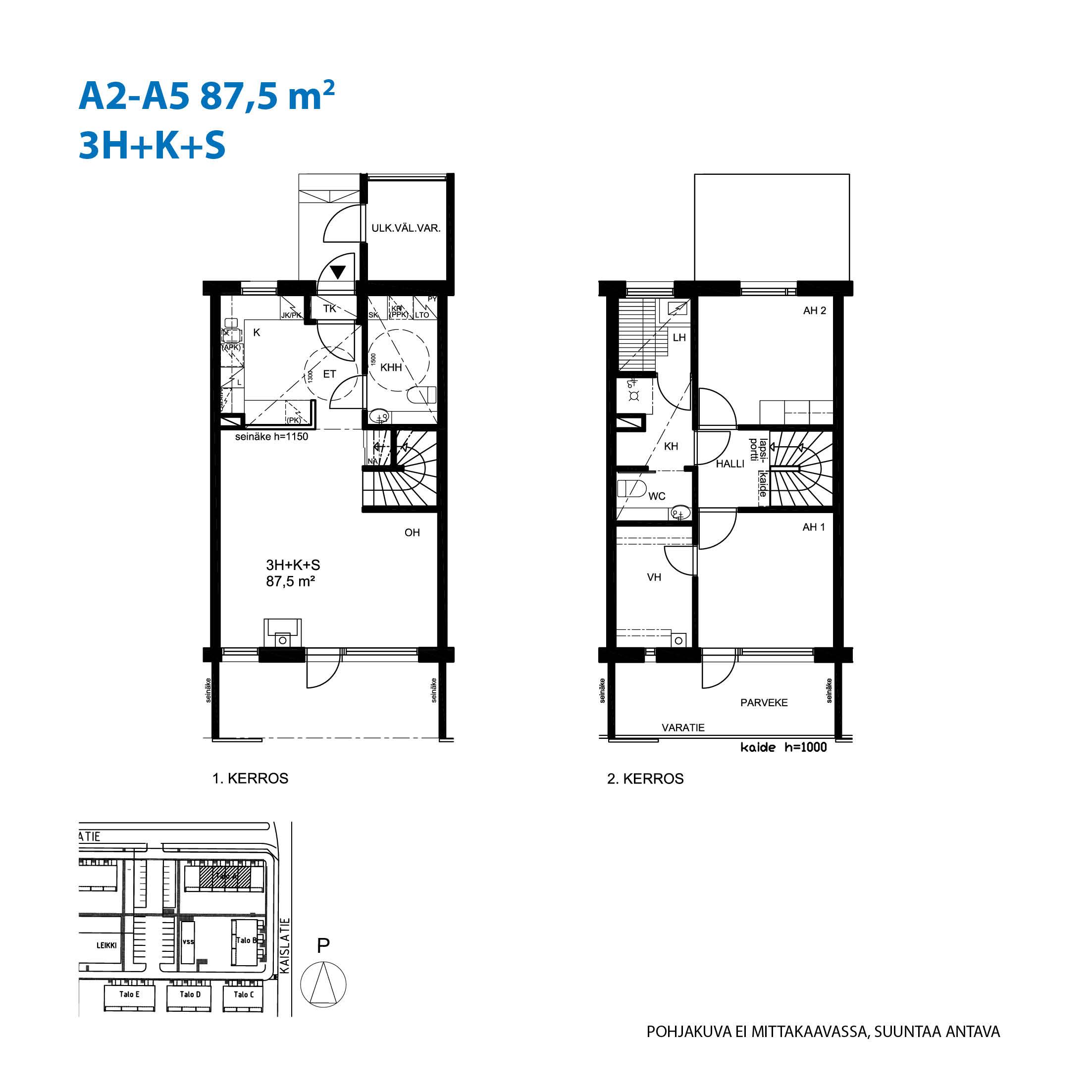 Asunto Oy Raision Rantapuisto - Rantatie 1, 21200, Raisio - 3H+K+S / 87.5m2