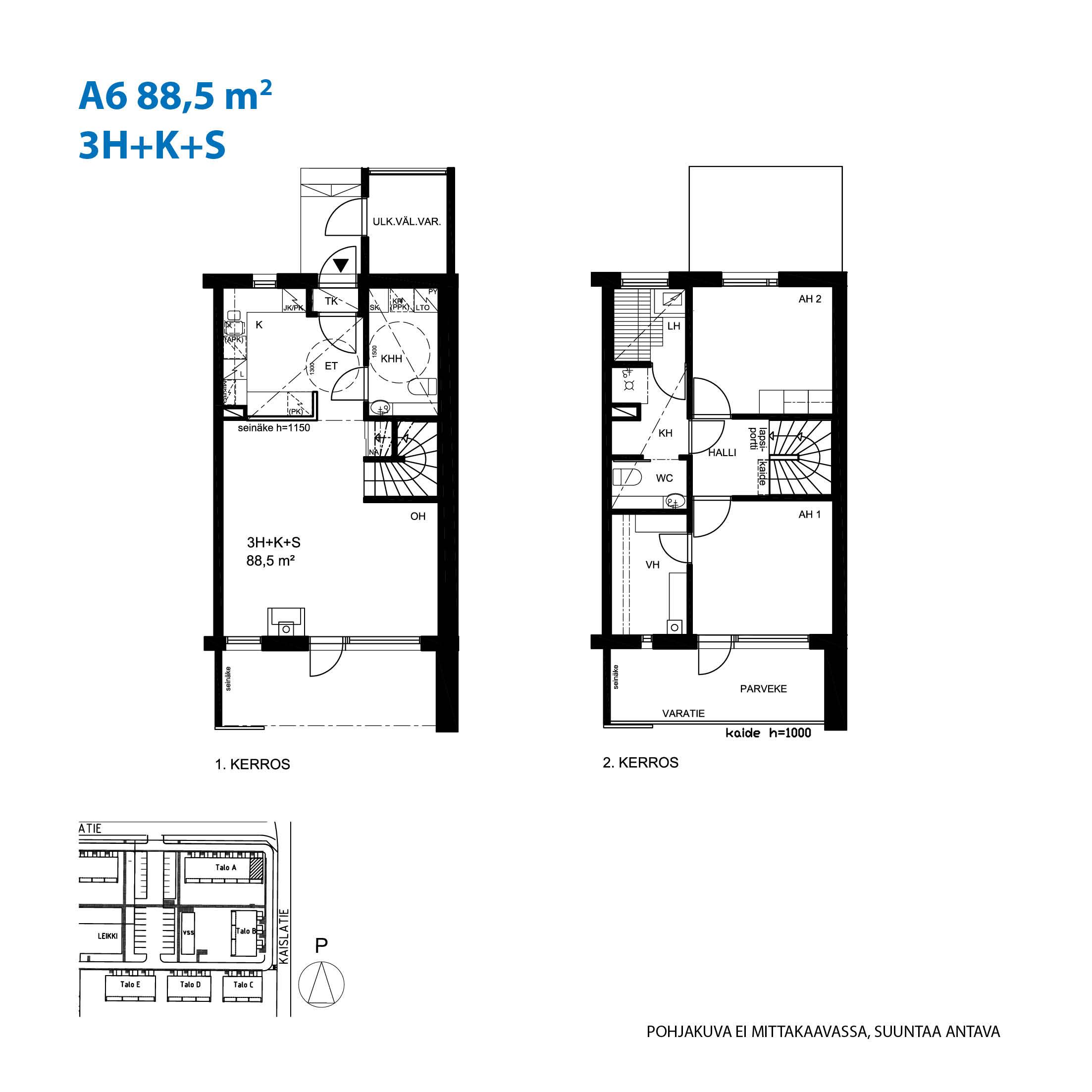A6, 88.5 m<sup>2</sup>, 3H+K+S