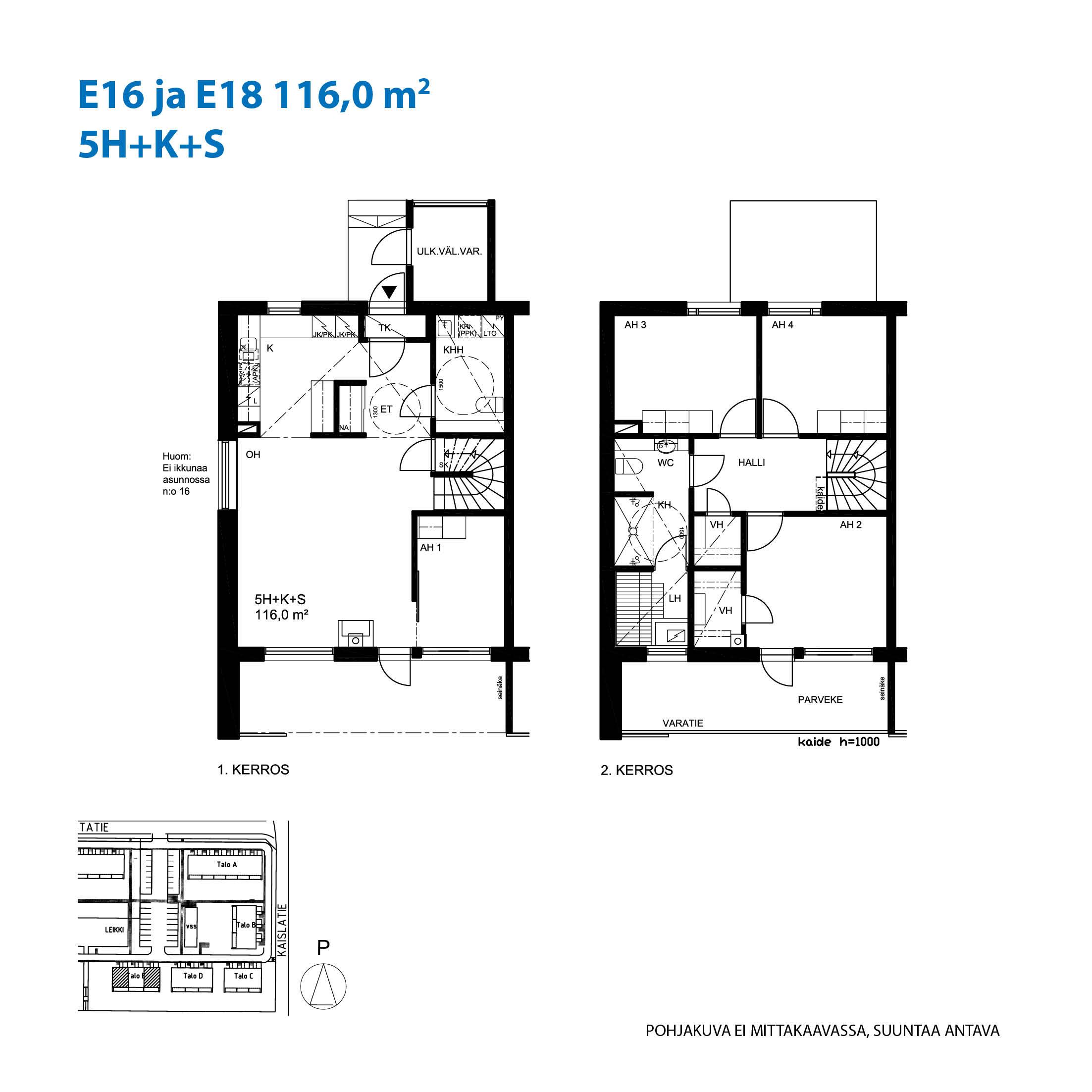 Asunto Oy Raision Rantapuisto - Rantatie 1, 21200, Raisio - 5H+K+S / 116.0m2