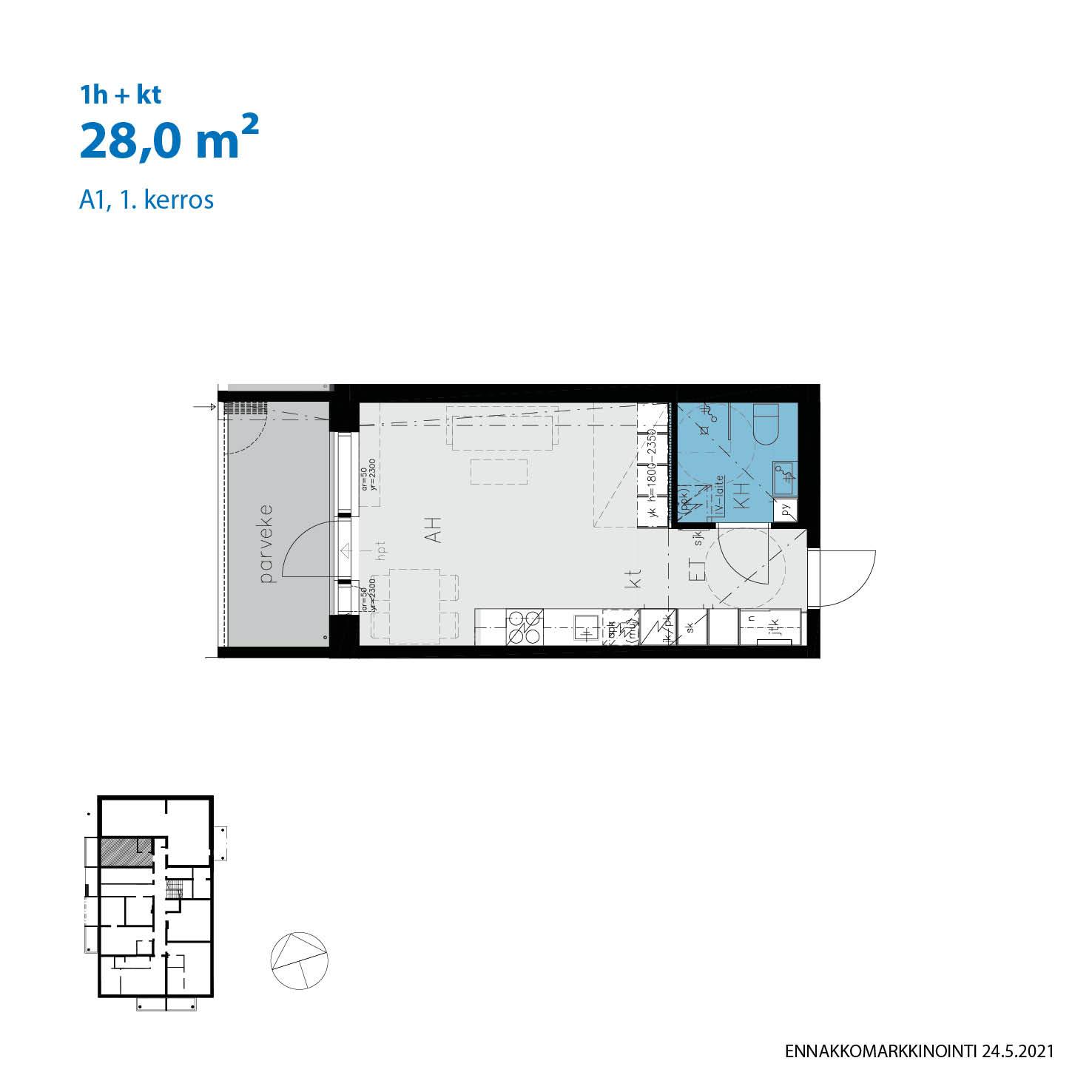 A1, 28.0 m<sup>2</sup>, 1h+kt