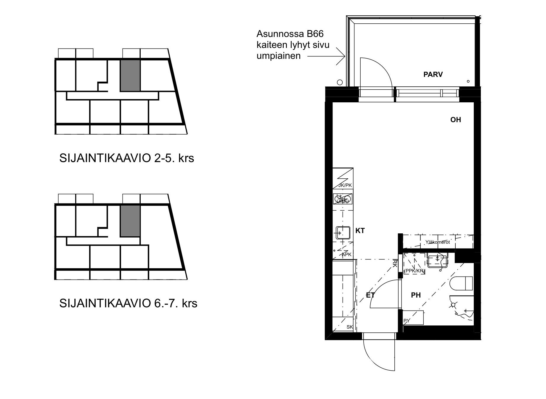 Asunto Oy Tampereen Hatanpään Kreivi - Hatanpään puistokuja 27, 33900, Tampere - 1H+KT / 26.5m2
