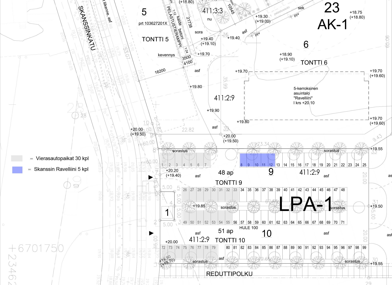 AP11, 12.5 m<sup>2</sup>, sähköpistokepaikka