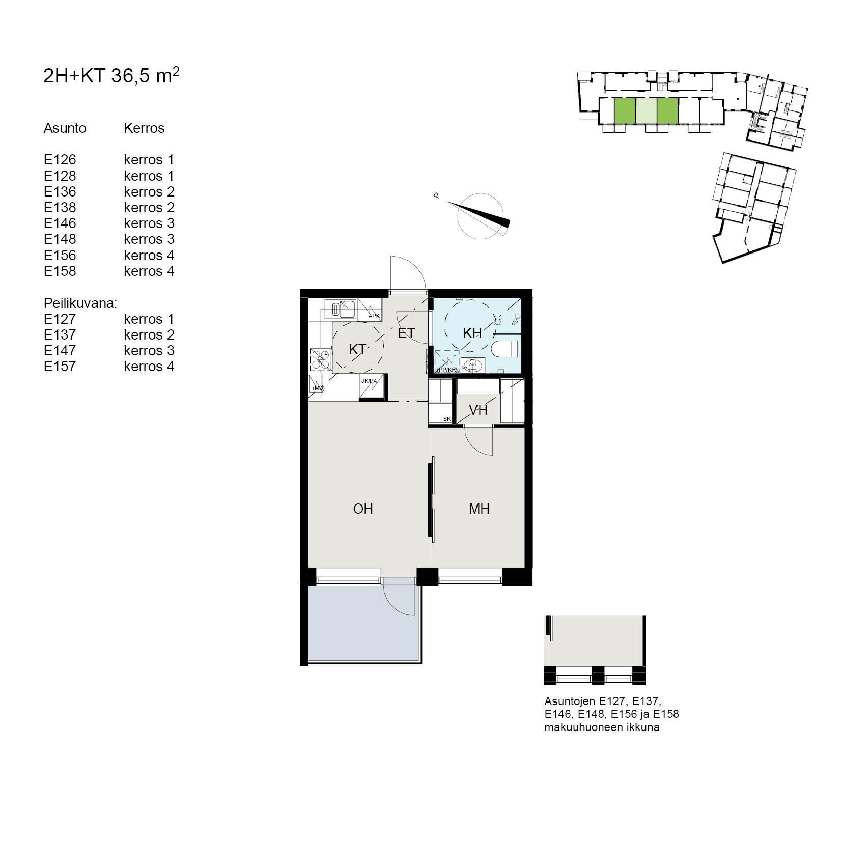 Asunto Oy Tampereen Tikkutehtaan Loimu - Tiporaitti 9, 33250, Tampere - 2H+KT / 36.5m2