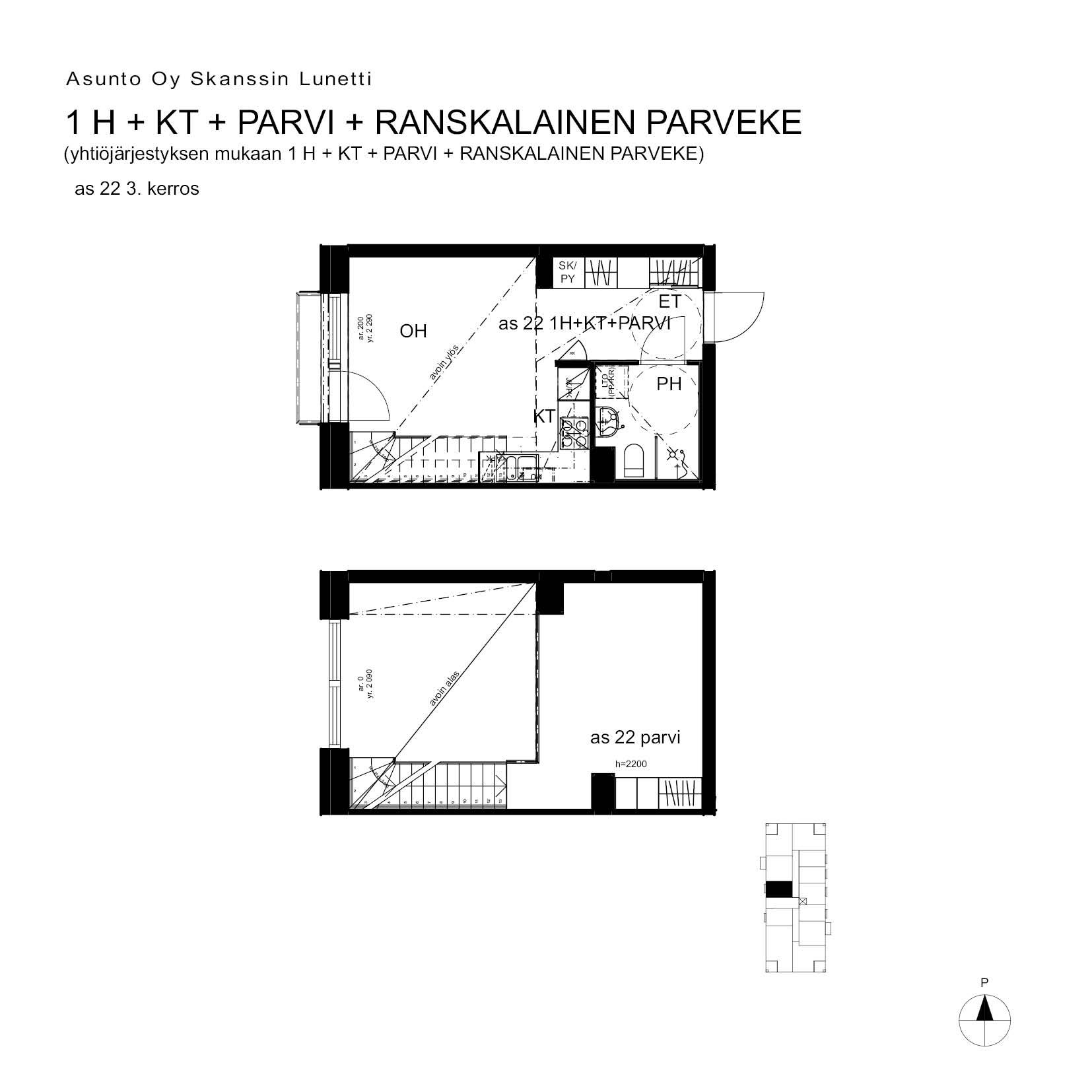 A22, 40.5 m<sup>2</sup>, 1H+KT+PARVI+ransk.p.