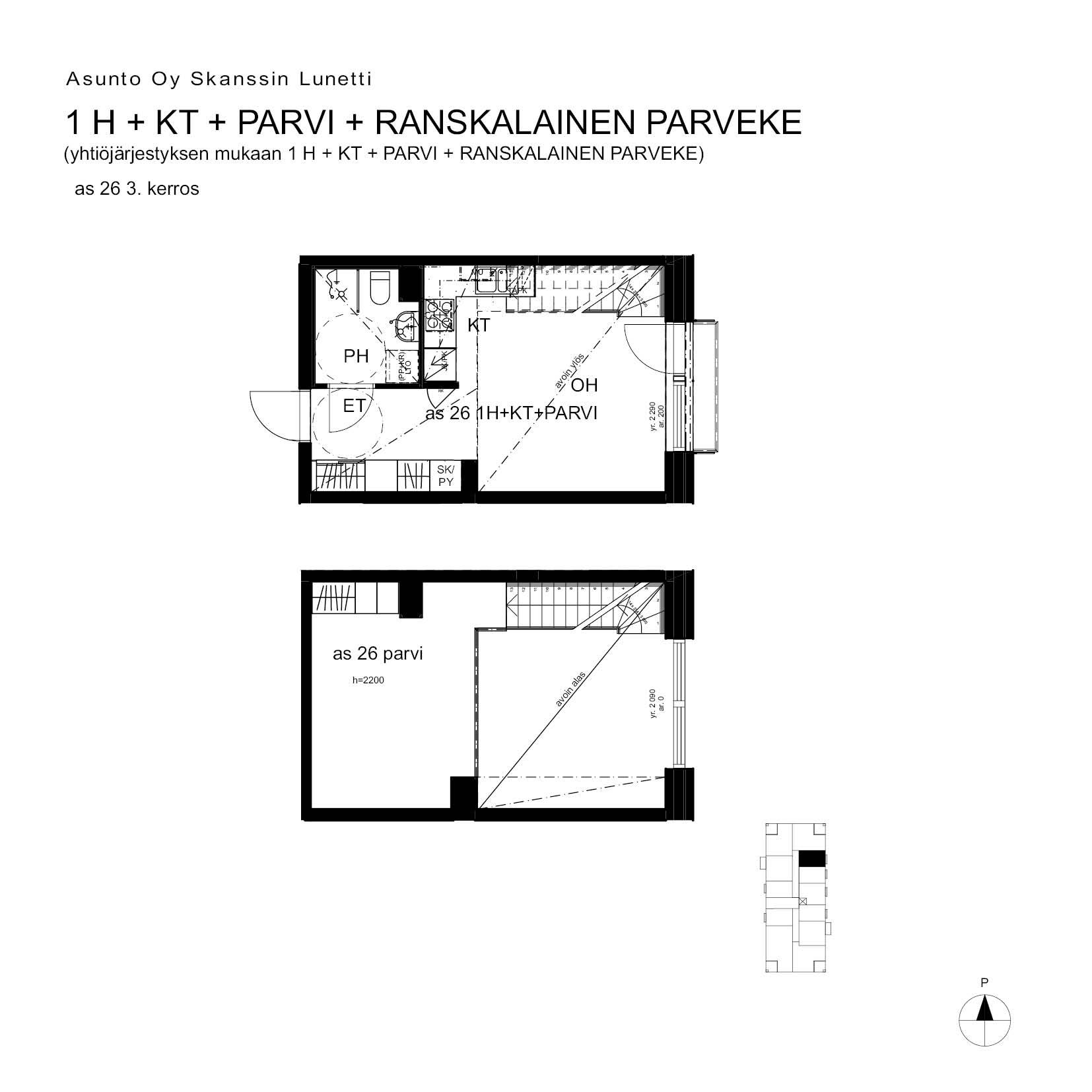 A26, 40.5 m<sup>2</sup>, 1H+KT+PARVI+ransk.p.