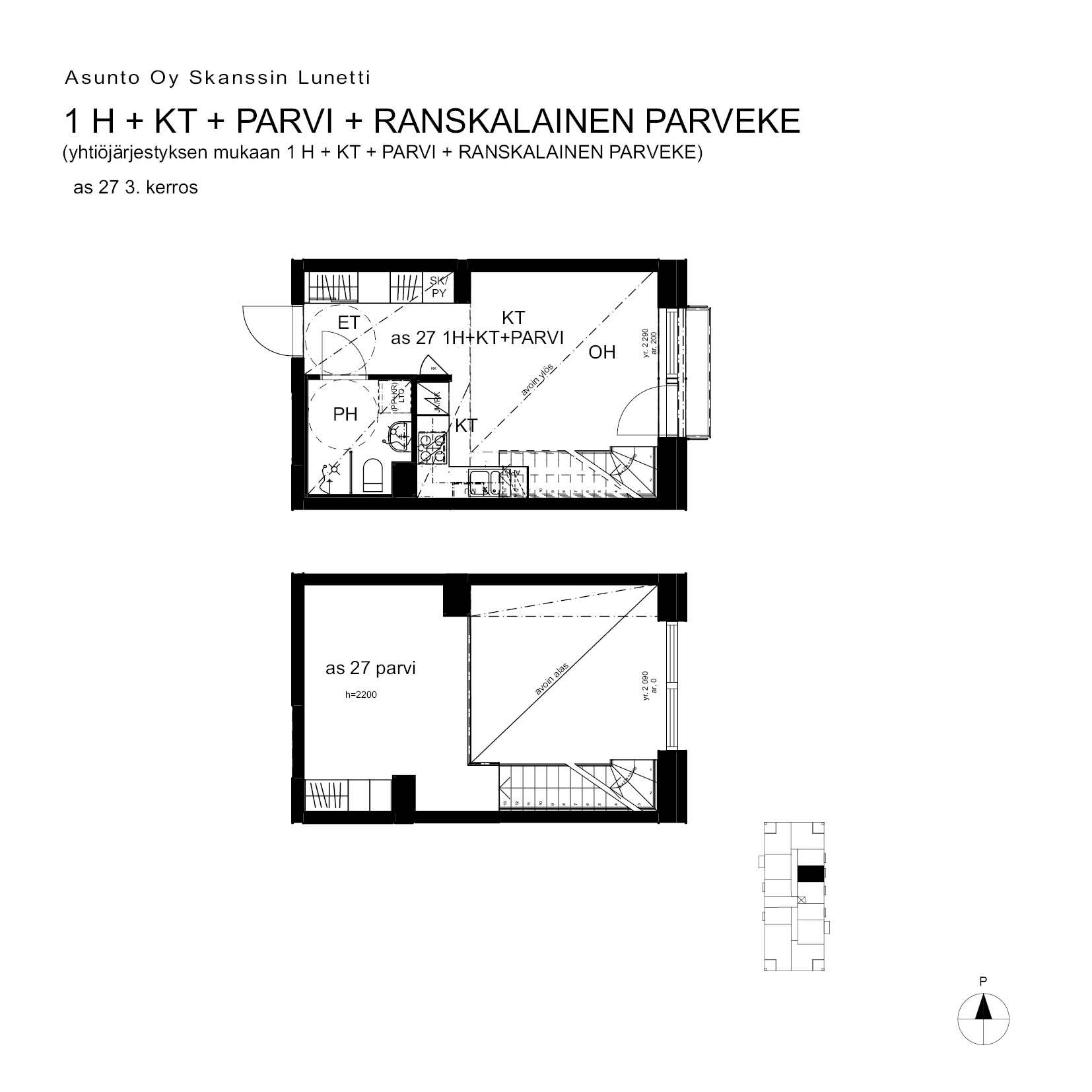 A27, 40.5 m<sup>2</sup>, 1H+KT+PARVI+ransk.p.
