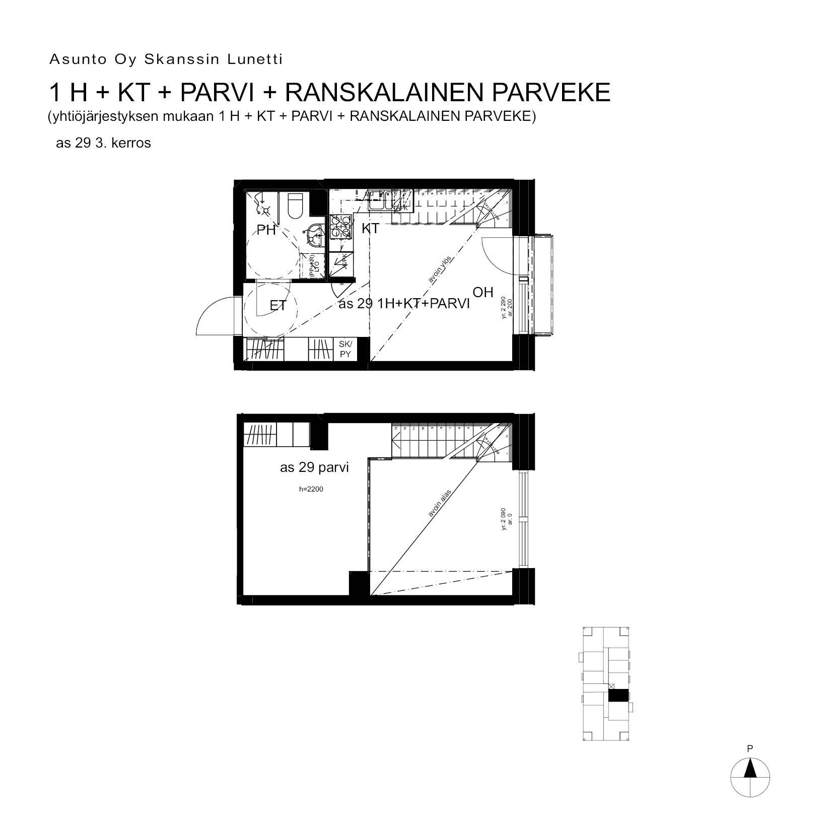 A29, 40.5 m<sup>2</sup>, 1H+KT+PARVI+ransk.p.
